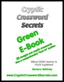 Cryptic Crossword Secrets Green E-book
