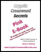 Cryptic Crossword Secrets Pink E-book