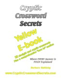 Cryptic Crossword Secrets Yellow E-book